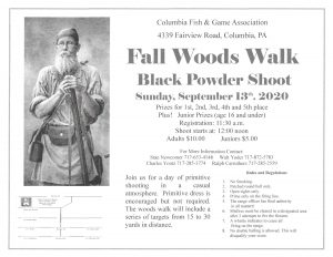 Fall Black Powder Woods Walk @ Columbia Fish & Game | Columbia | Pennsylvania | United States